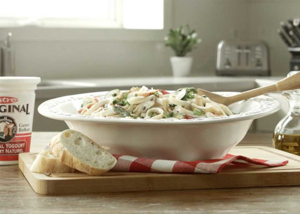 Astro Pasta Primavera video styled by Toronto food stylist and recipe developer Marianne Wren