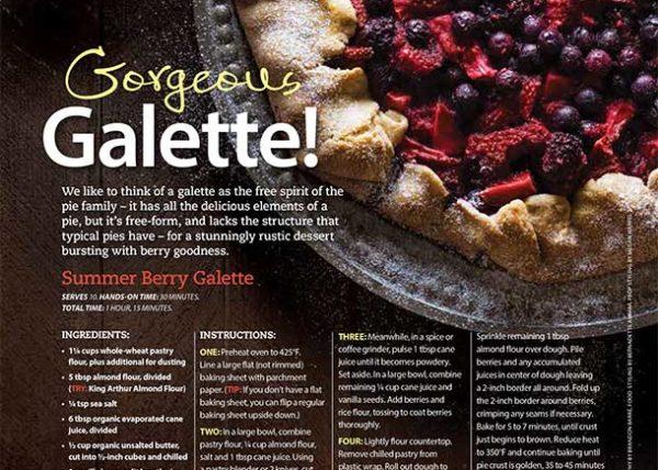 Summer Berry Galette food styling Toronto stylist Marianne Wren Clean Eating Magazine