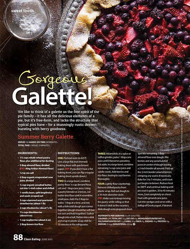 Summer Berry Galette food styling Toronto stylist Marianne Wren Clean Eating Magazine
