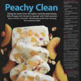 Peach Almond Semifreddo recipe development toronto stylist marianne wren Clean Eating Magazine