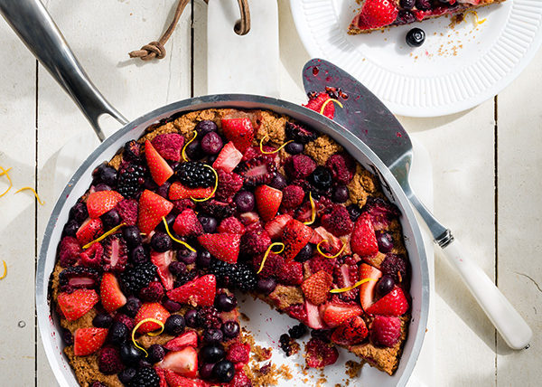 Grilled Berry Cobbler styled by Toronto food stylist Marianne Wren