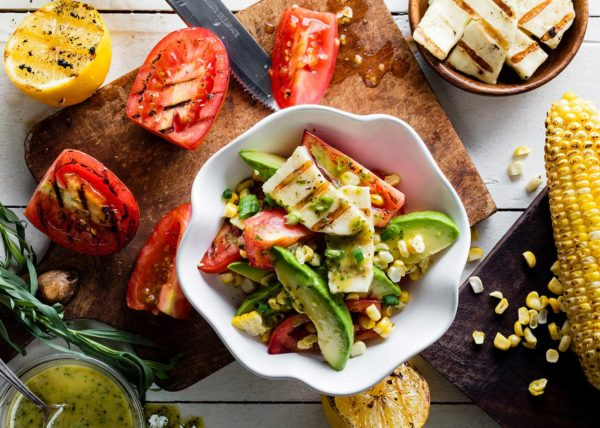 Grilled Chunky Salad food styling toronto stylist marianne wren Clean Eating Magazine