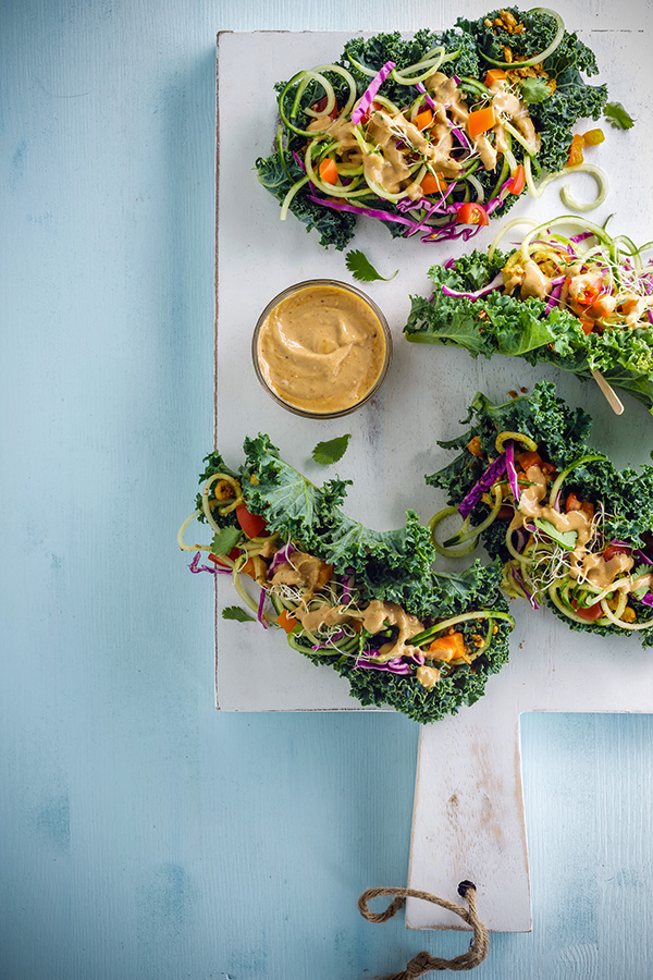Kale Wraps food styling toronto stylist marianne wren Clean Eating Magazine
