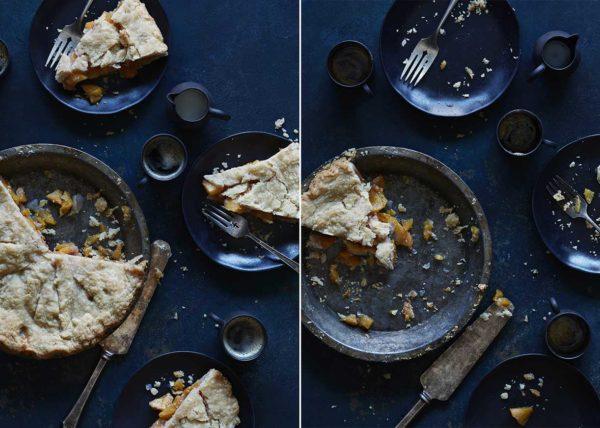 Last Slice Peach Pie styled by Toronto food stylist Marianne Wren