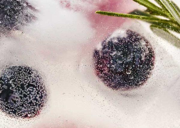 Herbed Blueberry Ice beverage food styling toronto stylist marianne wren