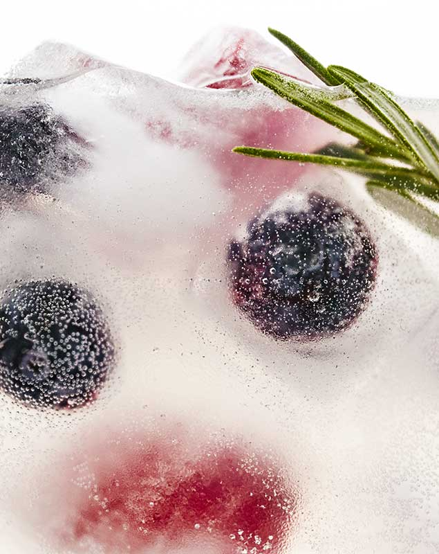 Herbed Blueberry Ice beverage food styling toronto stylist marianne wren