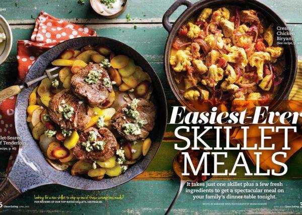 Easy Skillet Meals food styling Toronto stylist recipe developer Marianne Wren Clean Eating Magazine