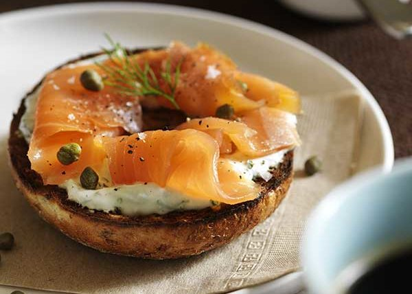 Bagel and Lox food styling toronto stylist marianne wren Eat Clean For Men Cookbook