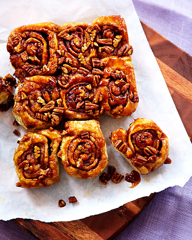 Sticky Buns dessert food styling recipe development toronto stylist marianne wren Clean Eating Magazine