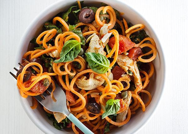 Spiralized Pasta food styling toronto stylist marianne wren Clean Eating Magazine