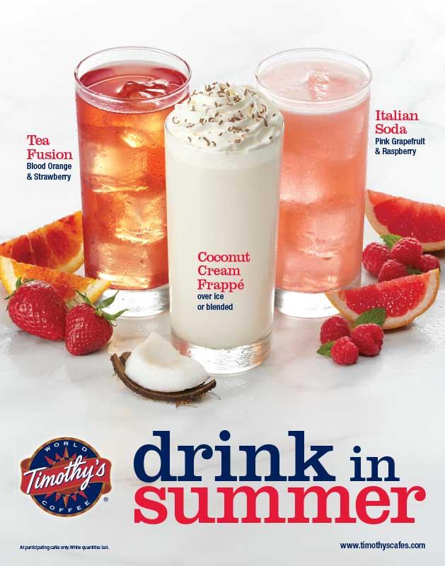 Timothy's Summer Drink Trio beverage food styling toronto stylist marianne wren