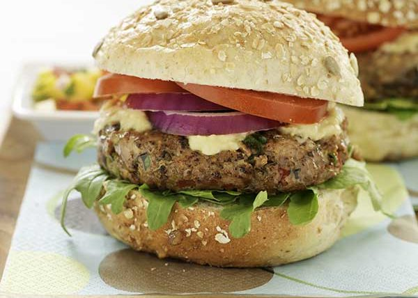 Tuna Burgers styled by Toronto food stylist Marianne Wren for The Eat-Clean Diet Cookbook
