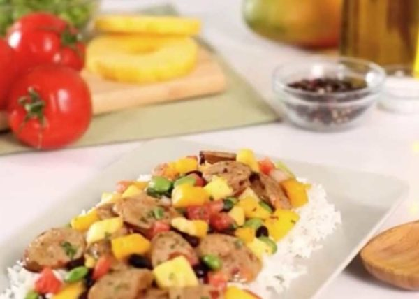 Chicken & Sausage Risotto commercial styled by Toronto food stylist and recipe developer Marianne Wren