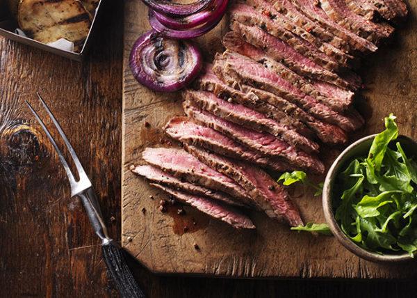 Flank Steak styled by Toronto food stylist and recipe developer Marianne Wren