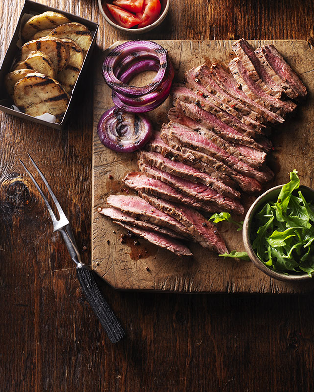Flank Steak styled by Toronto food stylist and recipe developer Marianne Wren