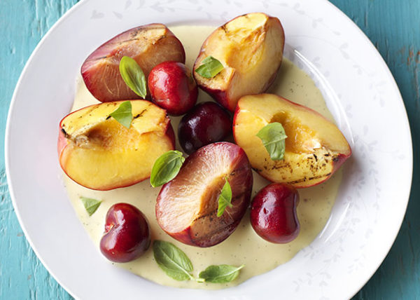 Grilled Stone Fruit styled by Toronto food stylist and recipe developer Marianne Wren